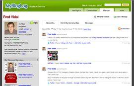 MYBLOGLOG.COM Fred Vidal Homepage.