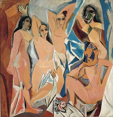 Les Demoiselles d'Avignon by Pablo Picasso, a Major Influence for Candice Johnson Heads and Faces.