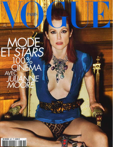 Julianne Moore, a New Twiggy for Hollywood and Fred Vidal.