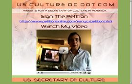 Homepage of usculturedc.com with the YouTube Video and Link To The Petition.