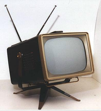 RCA In 1956 Did better than All our Laptops with A TV Set that Can Travel for The American Dream.
