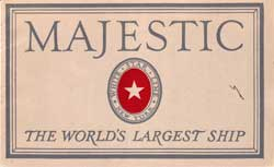 Majestic: A name that the entire Human race Remembers as The Symbol of the Continuity of The Ocean Travels to The United States Of America.
