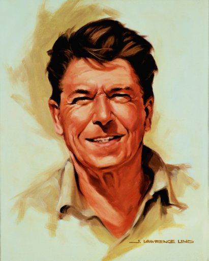 Ronald Reagan, by Lawrence Lind