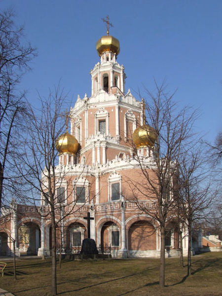One of Naryshkin churches in Moscow. The USSR Capitale was informed of the Building of The Wall before to know about the Tunnel.