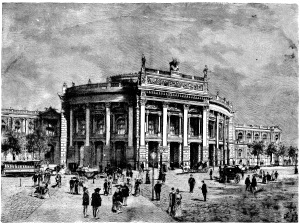 THE NEW IMPERIAL PALACE THEATRE, VIENNA. ORIGINAL DESIGN BY J.J. KIRCHNER.
