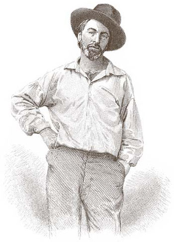 Walt Whitman, friend of Fred and strange warrior of The American Legend and Land.