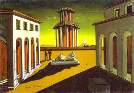Institut Valencià d'Art Modern (IVAM) presents The century of Giorgio de Chirico. Metaphysics and Architecture, on view through February 17th, 2008. Velvet Eyes and Leather Gloves, 40 Years After Their Honeymoon in Venezia Say Goodbye To The Continent Of Their Memories.