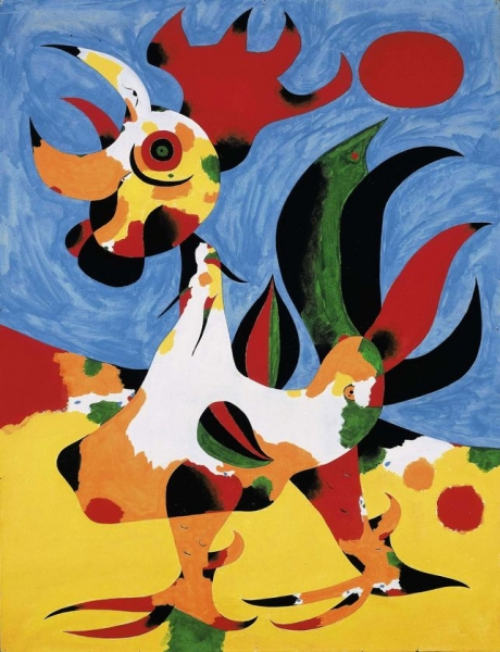 Joan Miro - Le Coq. They Knew Varsovia But It Was Not The Same Town After The War. Villages Everywhere With Population Rebuilding THeir Life Like In A Novel Mixing Peace And Liberty.