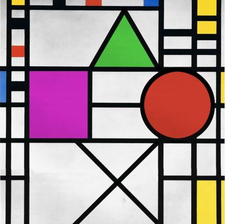 Piet-Mondrian - Composition.
