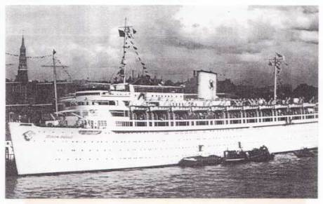 The 26,000 ton, 1,460 passenger ship WILHELM GUSTLOFF was built by Blohm & Voss Shipyards in Hamburg in 1938.