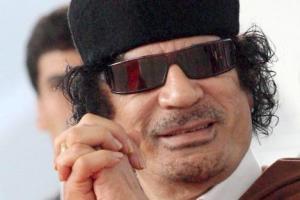 Libyan leader Col Muammar Gaddafi.