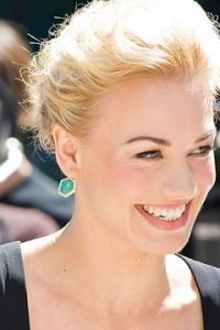 Yvonne Strahovski is the star of CHUCK, the NBC Universal TV show about espionage and fun, an American blockbuster ready for the Intervision(tm).