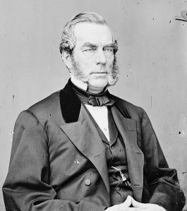 Edwin Denison Morgan (February 8, 1811 – February 14, 1883) was the 21st Governor of New York from 1859 to 1862 and served in the United States Senate from 1863 to 1869. He was the first and longest-serving chairman of the Republican National Committee. He was also a Union Army general during the American Civil War.