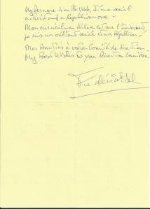 LES AUTOGRAPHES. La Lettre au Parti Républicain (la signature).