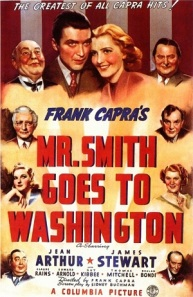 Mr. Smith Goes To Washington poster. This is a good example of the art of communicating about movies (and politics). Hollywood is not only a show but also a counter-power in the US, advising Washington.