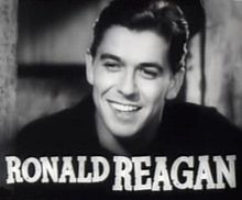 Reagan Ronald, a brand of Hollywood B film, a future A President.
