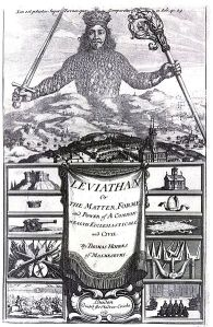 The frontispiece of Thomas Hobbes' Leviathan, inspiration of Presidential Power.