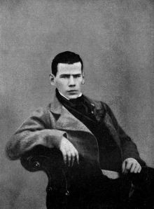 Leo Tolstoy 1848. Date: 1906. Source: Life and Work, Heineman. Author: Pavel Biryukov.
