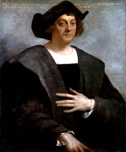 I wrote this speech for him and for us. Posthumous portrait of Christopher Columbus by Sebastiano del Piombo. There are no known authentic portraits of Columbus.