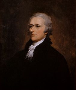 Alexander Hamilton (January 11, 1755 or 1757 – July 12, 1804) was a Founding Father, soldier, economist, political philosopher, one of America's first constitutional lawyers and the first United States Secretary of the Treasury.