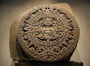 """The Aztec """"Calendar Stone"""". Museo Nacional de Antropología, Mexico City. Author: Rosemania."""