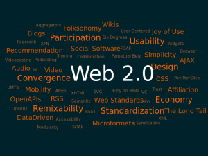 The Web 2.0 is the sign. We have 1 + 1 = 2 but never 1 + 2.