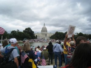 Tea Party protesters fill the National Mall on September 12, 2009. Author: NYyankees51.