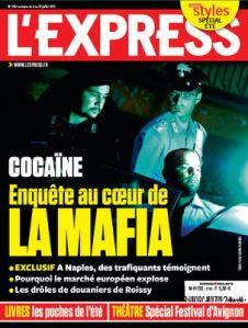 L'Express de cette semaine: COCAINE. Enquête au coeur de LA MAFIA. C'est le contexte dans lequel a lieu le nouveau roman télévisuel de Mike Fuller alias l'homme politique français, Frédéric Vidal.