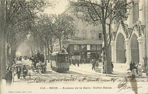 Nice - Avenue de la Gare - Notre-Dame. Edition Giletta.