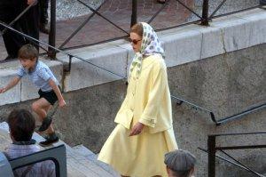 """Nicole Kidman sur le tournage de """"Grace of Monaco"""" a Menton.Photo Eric Dulière. Nice-Matin."""