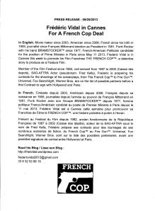 CANNES FRENCH COP DEAL