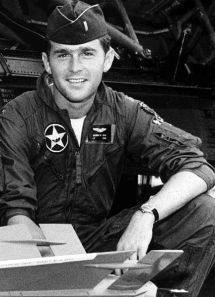 George W. Bush in the Texas Air National Guard, where he served from 1968 to 1973. Author: USAF.