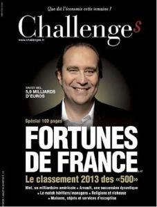 Challenges et le magazine économique du Nouvel Observateur avec la qualité d'un Time consacré à la Finance française avec l'International en contexte environnementiel. FV