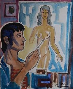 Man creating Woman by Ignasi Vidal.