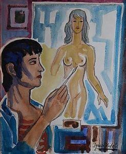 Man creating Woman by Ignasi Vidal.