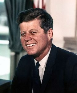 John F. Kennedy, photograph in the Oval Office. Pic by Cecil Stoughton, White House.