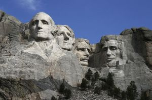 The Mount Rushmore Monument as seen from the viewing plaza. Pic by  Dean Franklin.