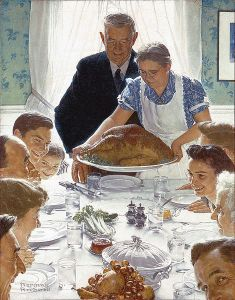 Freedom from Want (painting) . Author: Norman Rockwell.