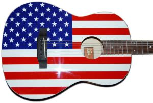 Rogue U.S.A. Flag Acoustic Guitar.