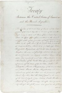 The Louisana Purchase treaty Image from U.S. National Archives and Records Administration {{PD-USGov-NARA}}.