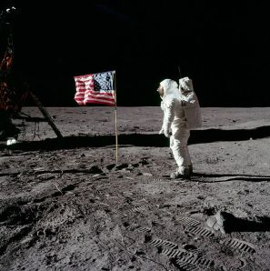 Buzz, 20 July 1969. NASA Apollo Archive. By Neil A. Armstrong.