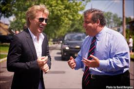 Chris Christie with Jon Bon Jovi. Does the Rock Star knows that the Republican Governor of his State, New Jersey does not want me or Mike in the GOP charts for 2016. He's wrong to do that. FV