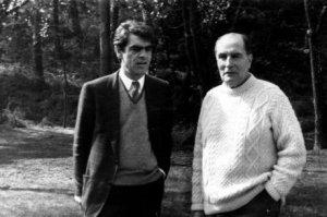 Henri Emmanuelli et François Mitterrand à Latché, un témoignage de l'affection des deux à l'égard de Frédéric Vidal qui demande maintenant des explications sur son dossier administratif.