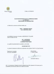 Mon attestation d'assesseur titulaire de bureau de vote, le 30 mars dernier, a autant d'importance que mon diplôme de Sciences Po. Elle témoigne du haut niveau que j'ai atteint dans la vie politique locale et nationale en France. FV