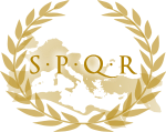 "SPQR is an acronym of a Latin phrase, Senatus Populusque Romanys (The Senate and People of Rome""), referring to the government of the ancient Roman Republic, and used as an official emblem of the modern-day comune (municipality) of Rome."