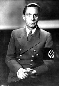 To prevent a fascination about Nazism, we must be proud to see the official portrait of Joseph Goebbels and tell him THAT WE ARE NOT AT ALL ATTRACTED by his point of view, even with a PhD, we have ours, FRED KELLY.