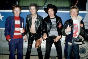 Sex Pistols on the road, the bus was Presidential. Photo By: courtesy of www.sexpistolsofficial.com