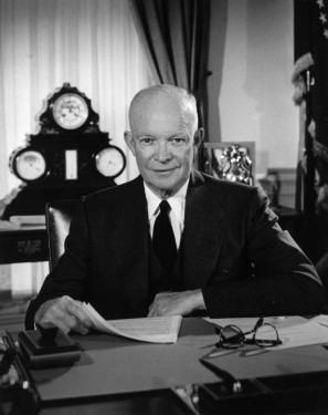 Eisenhower in the Oval Office, February 29, 1956. He was still there September 10, 1959 when I was born. So, he's my first Prez and I like him for that. FV