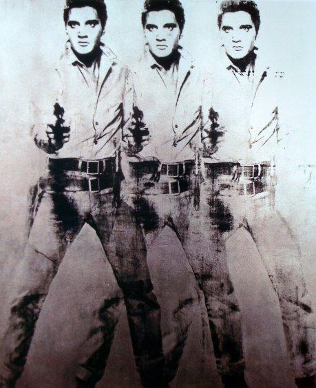 35   Andy  Warhol    Triple  Elvis   1962   acrylique  et sérigraphie   208x152
