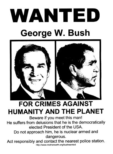 wanted-george-bush